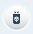 usb stick secure data icon vector image