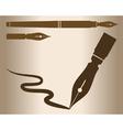 Vintage pen vector image vector image