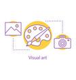 visual art concept icon vector image