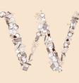 W School alphabet letter vector image