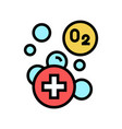 water adding oxygen color icon vector image vector image