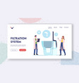 water filtration purification landing page vector image