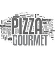 what is so special about gourmet pizza text word vector image vector image