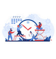 work time men and women organizing workflow busy vector image vector image
