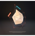 Abstract polygonal infographic element vector image