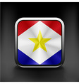 Flag of Saba flag national travel icon country vector image