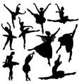 ballet ballerina silhouette vector image