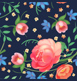 shabby chic vintage roses tulips and forget-me vector image