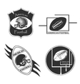 American Football logo and emblem vector image vector image