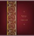 arabesque thai element classic gold background vector image vector image