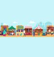 asian street market flat vector image