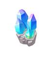 blue magic crystal gem jewel rock mineral vector image vector image