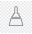 broom concept linear icon isolated on transparent vector image