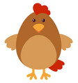 brown chicken with happy face vector image vector image