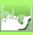 camel and dome mosque silhouette vector image vector image