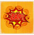 Cartoon blast ZAP vector image vector image