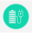 charging battery icon sign symbol vector image vector image
