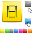 Cinema glossy button vector image vector image