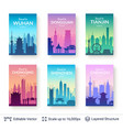 collection of famous chinese city scapes vector image vector image