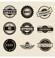 commercial stamps set in vintage style for vector image vector image