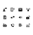 communication solid icon set vector image