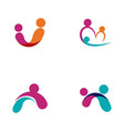 community network and social icon vector image vector image