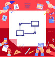 computer network data exchange transfer concept vector image
