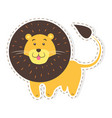 cute lion cartoon flat sticker or icon vector image vector image