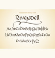 decorative vintage magic styled letters vector image vector image