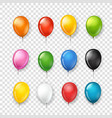 different color rubber balloons collection vector image vector image