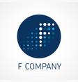 f web digital company logo concept vector image vector image