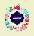 fashion Women bags handbags and SHOES vector image vector image