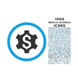 financial settings rounded symbol with 1000 icons vector image vector image