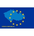 Flag of European Union with Czech Republic on vector image