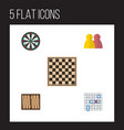 flat icon play set of people dice arrow and vector image vector image