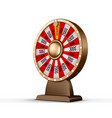 fortune wheel 3d object isolated on white vector image