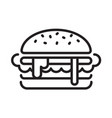 graphic hamburger vector image vector image
