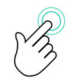 hand click icon eps 10 vector image