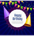 happy birthday party celebration background vector image vector image