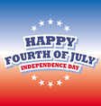 Happy Fourth of July America greeting card vector image vector image
