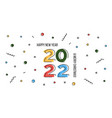 happy new year 2022 and merry christmas greeting vector image vector image