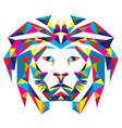 Head Lion Polygonal vector image