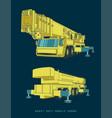 heavy duty mobile crane in cartoon style vector image