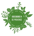 Herbes de Provence flat silhouettes vector image