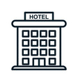 hotel icon isolated on white background from vector image