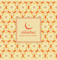 islamic background with colorful pattern vector image