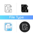 js file icon vector image vector image
