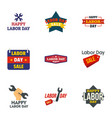 labor day final sale logo set flat style vector image vector image
