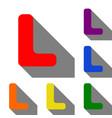 letter l sign design template element set of red vector image