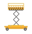 lifting platform trolley stock warehouse vector image vector image